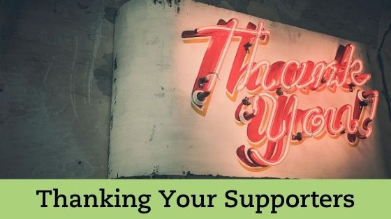 Ideas for Thanking Supporters and Donors